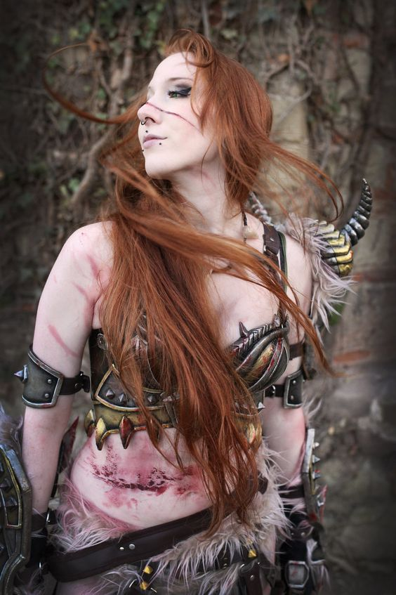 Cosplay Female Barbarian Diablo 3 by emilyrosa.deviantart.com on @deviantART