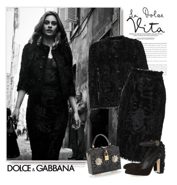 """Dolce & Gabbana FW 2015"" by sella103 ❤ liked on Polyvore"