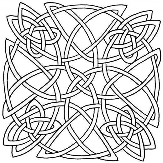Line Art Ks2 : Celtic design art coloring pages for kids colouring