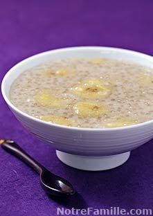 Perles du Japon au lait de coco et banane (Mettre seulement 30g sinon trop de perles...)