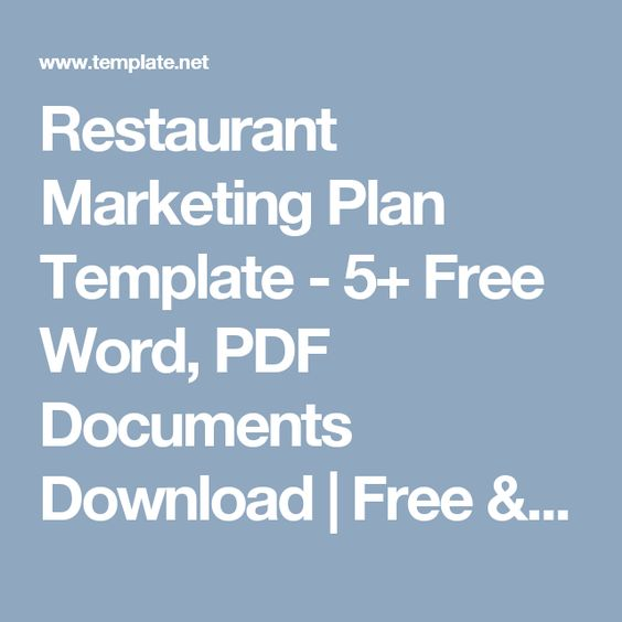 Restaurant Marketing Plan Template - 5+ Free Word, PDF Documents - marketing plan template word