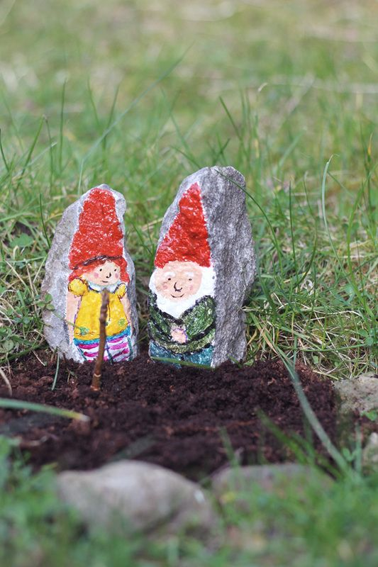 Painted rock garden gnomes creative kids pinterest - Painting rocks for garden what kind of paint ...