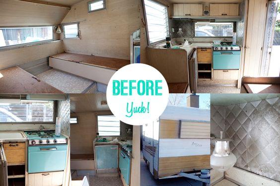 Caravan makeover before