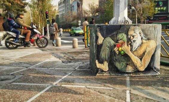 Street art in Tehran, Iran by TAHA