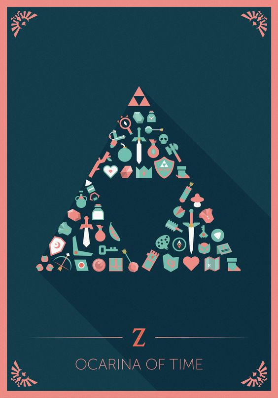 The Legend of Zelda – Flat icons II | O.Magermans | Graphisme – Vidéo – Son