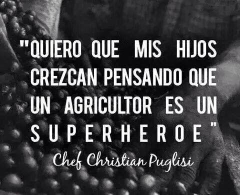 Un agricultor es un superhéroe