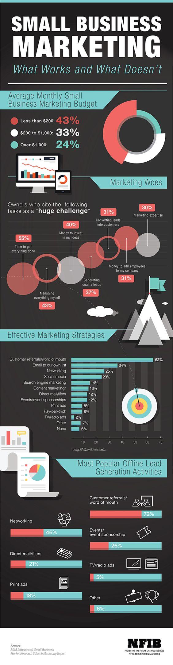 Infographic: Small business marketing | NFIB RefugeMarketing.com