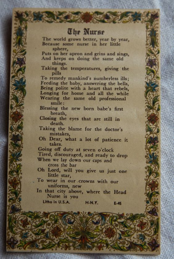 A favorite poem that she used as a bookmark