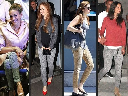 Diversos estilos de jeans.