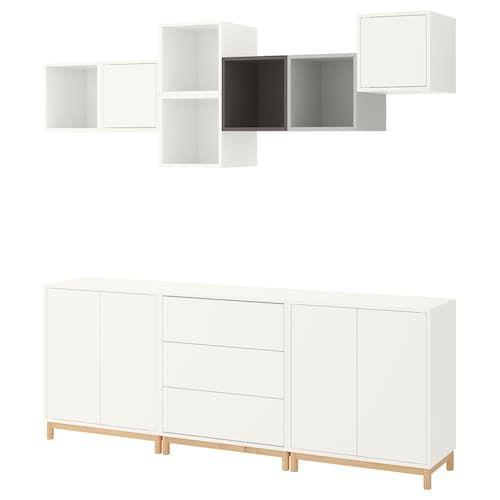 EKET Combinazione di mobili con piedini bianco IKEA IT