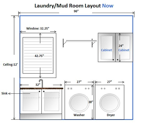 Laundry room layouts room layouts and room layout design for Side by side plans