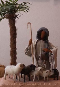 Biblische Figuren - Hirt mit Schafen