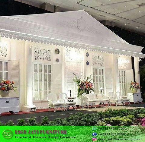 Dekorasi Set Pelaminan Rumah Betawi Kolonial Dekorasi