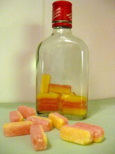 Rhubarb and custard vodka
