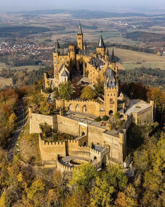 Arial View Of Hohenzollern Castle Hohenzollern Castle Germany Castles Beautiful Castles