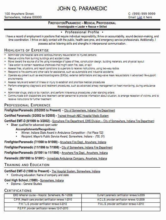 Emt Job Description Resume Luxury Paramedic Job Description Resume Paramedic Salaries Resume Examples Resume Skills Basic Resume
