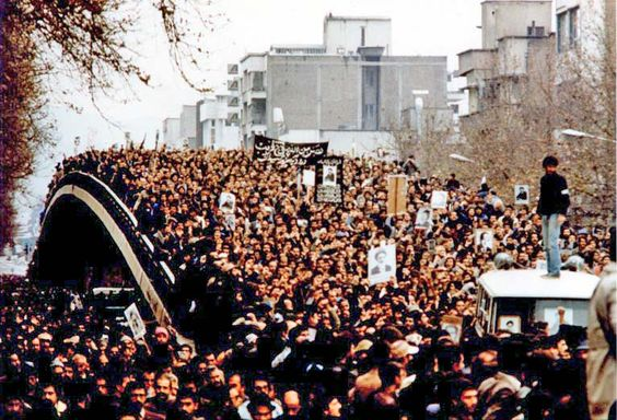 Mass demonstrations during Iranian Revolution