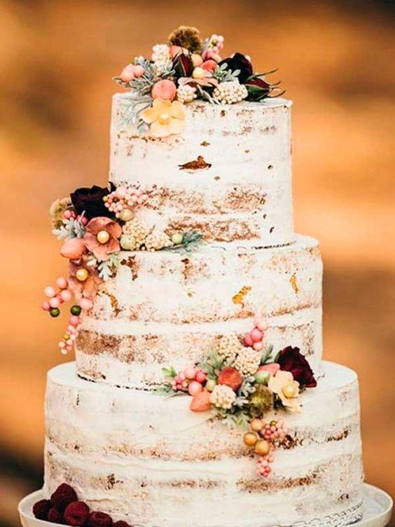 tarta para boda de tres pisos