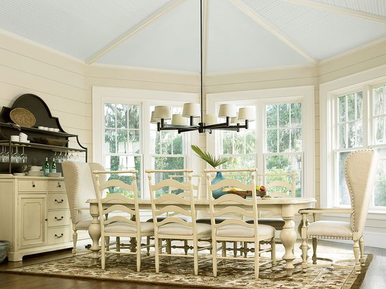River House Collection Dining Table Side Chairs Host