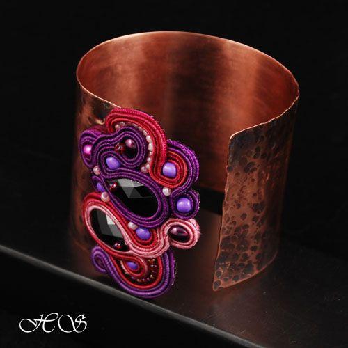 Hannah Studio - ręcznie haftowana biżuteria / hand embroidered jewelry - silk soutache / sutasz: