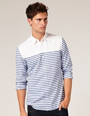 Enlarge ASOS Horizontal Stripe Shirt