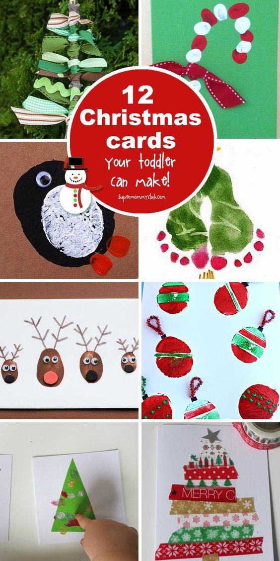 Adorable Homemade Christmas Cards for Kids to Make!  Homemade Christmas Card...