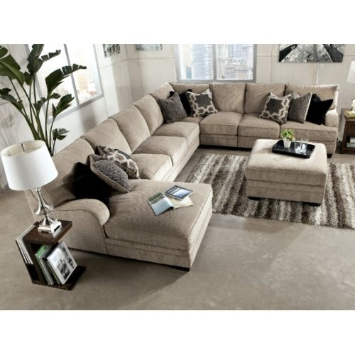 Tisha 6 Piece Sectional Package Including Storage Ottoman At HOM Furniture  | Home Is Where The U003c3 Is | Pinterest | Ottomans, Storage And Living Rooms