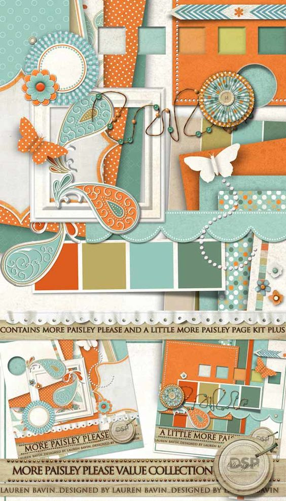 More Paisley Please Value Collection  - $8.49 :32 Piece fun and funky kit