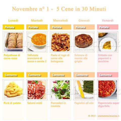 Novembre N 1 – 5 cene veloci in 30 minuti | Una Mamma In Cucina