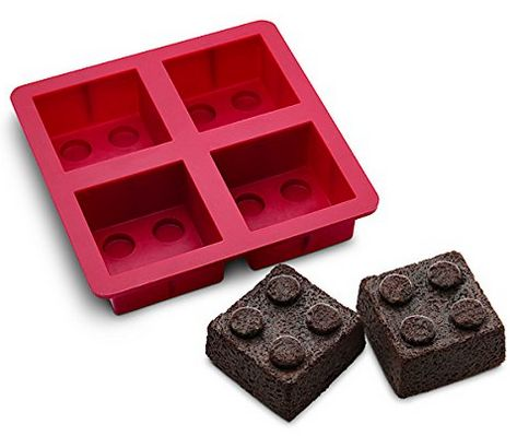 What a great idea for a lego birthday party! LEGO cake brownie mold pan
