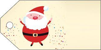 Sparkly Santa Free Christmas Gift Tags
