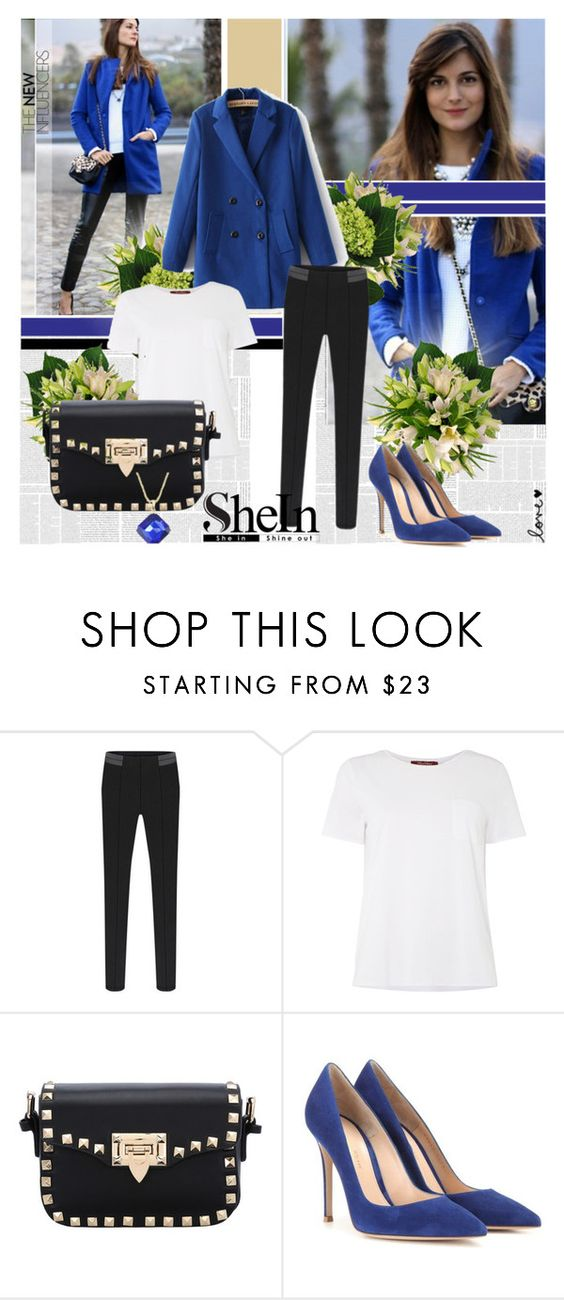 """Sheinside 1"" by followme734 ❤ liked on Polyvore featuring MaxMara, Gianvito Rossi and Sheinside"