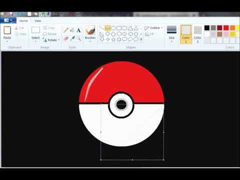 How To Draw Pokeball In Ms Paint Drawing For Kids Drawings Painting