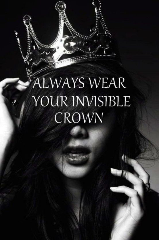 Pin By Fabi Valle On Funny Little Things Girly Quotes Invisible Crown Words
