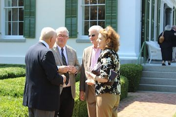 Dick Jenrette, Buddy Jenrette, Jack Simmons, Courtenay Daniels at Millford (September 2014).