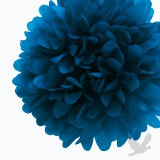 Peacock Blue Tissue Paper Pom Poms BULK (Set of 4) #Bar #Mitzvah  koyalwholesale.com