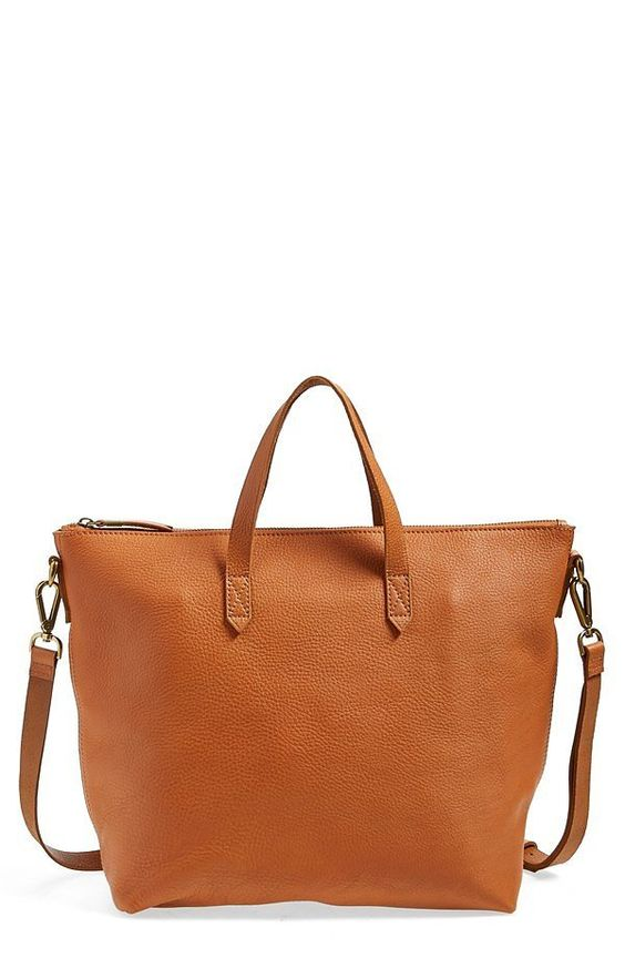 Madewell Leather Zip Transport Bag ($188)