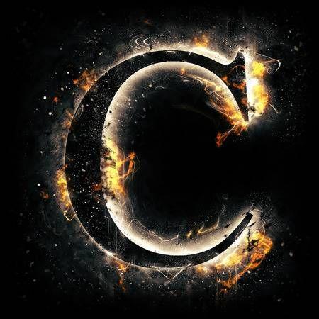 Fire Letter C Fire Letters Letter C Lettering Alphabet C letter wallpaper hd