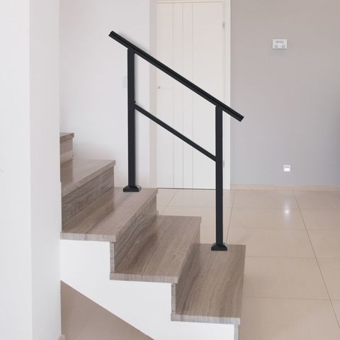 Freedom Heathrow Matte Black Aluminum Deck Handrail Kit Lowes Com In 2020 Handrail Aluminum Decking Step Railing