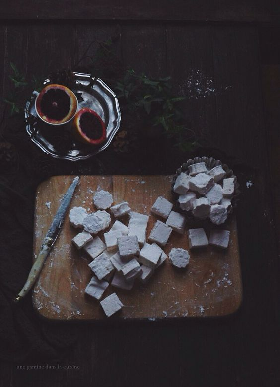 blood orange + clover honey marshmallows