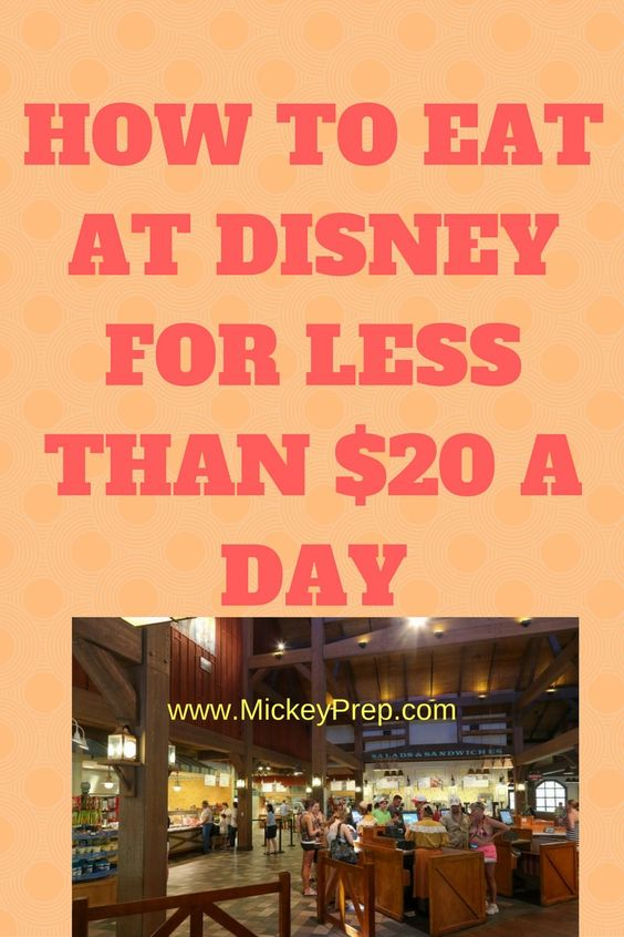 How to Eat at Disney for Less Than $20 A Day