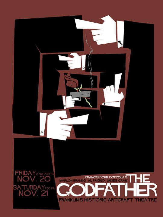 The Godfather - Saul Bass - Non-Alamo Graphic Art Movie Posters
