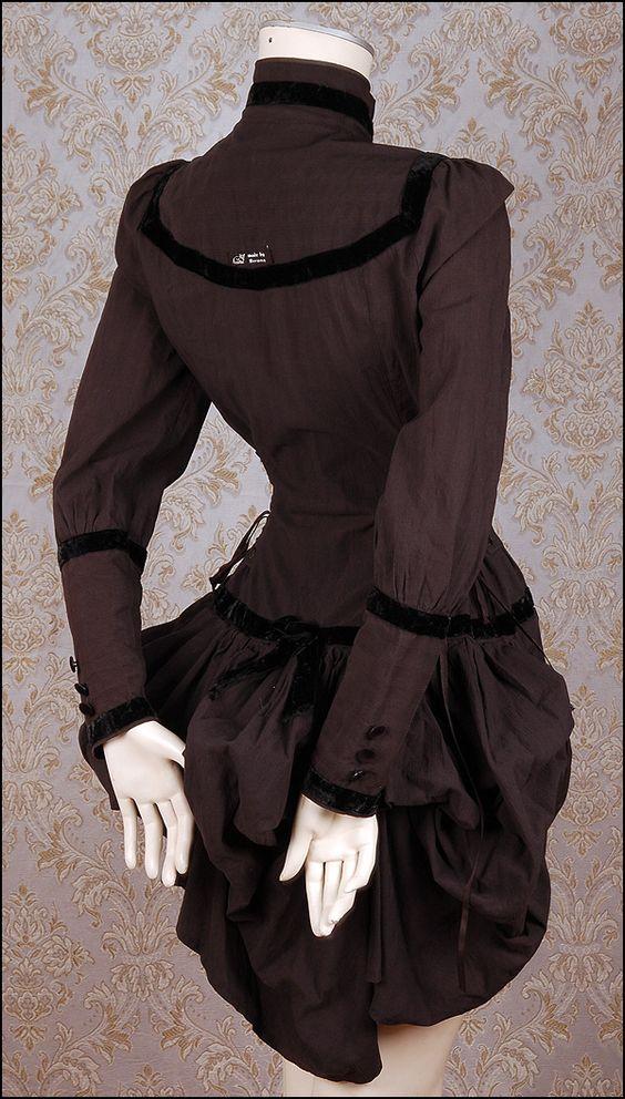 VECONA Gouvernante BUSTLE BLUSE Gothic SOPOR AETERNUS Anna Varney Steampunk S M | eBay