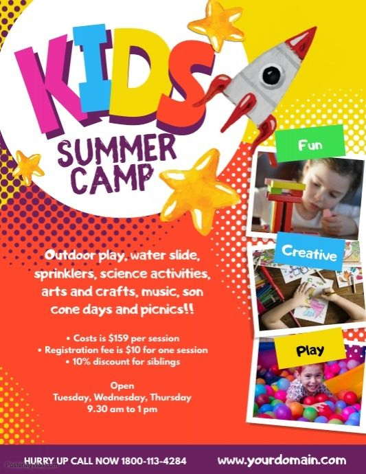 Pin On Summer Camp Flyers