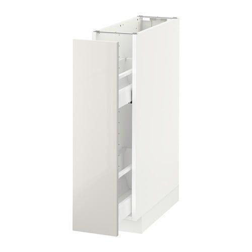 Metod Element Bas Rgts Coulissants Blanc Ringhult Blanc 20x60 Cm Meuble Bas Cuisine Meuble Bas Ikea