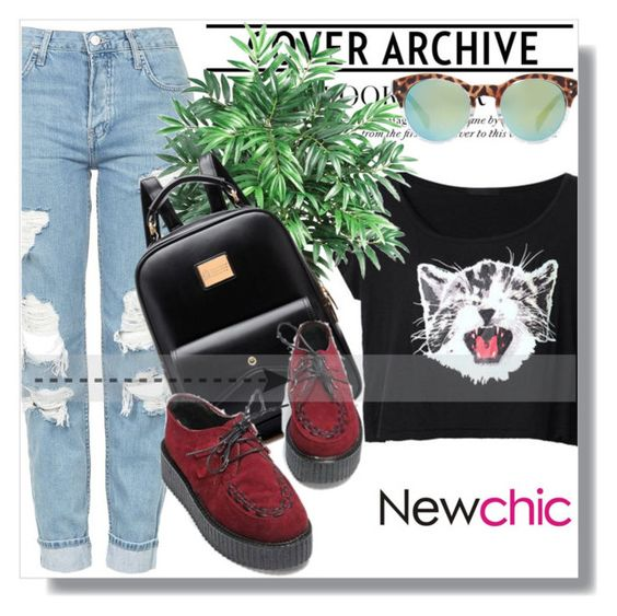 """""""NewChic !"""" by dianagrigoryan ❤ liked on Polyvore featuring Topshop, Nearly Natural and MANGO"""