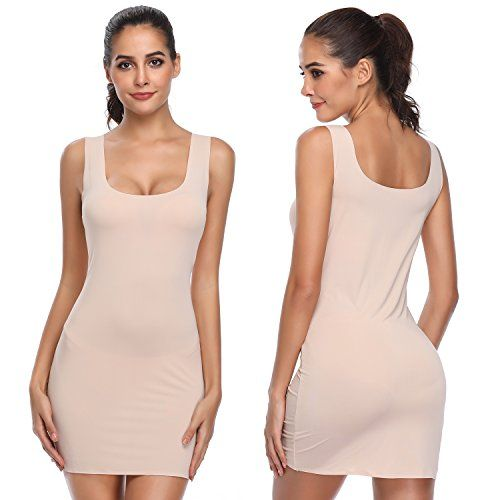 Joyshaper Long Full Slips For Under Dresses Women Seamless Camisole Slimming Shaping Control Ad Slips Ad Dresses Fu Under Dress Straight Dress Dresses