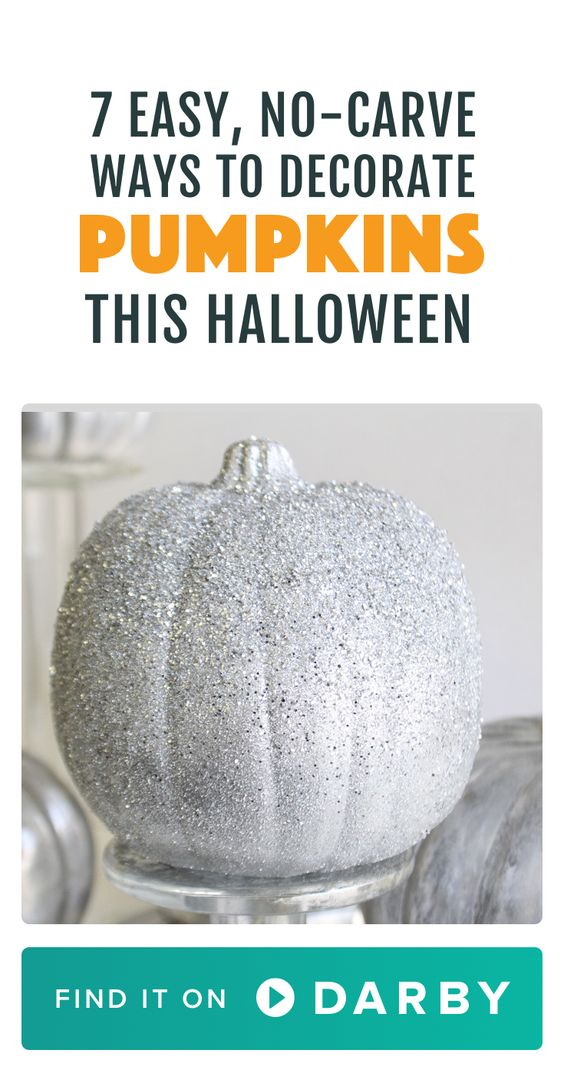 These easy no-carve Halloween pumpkin decorating ideas are perfect for kids.