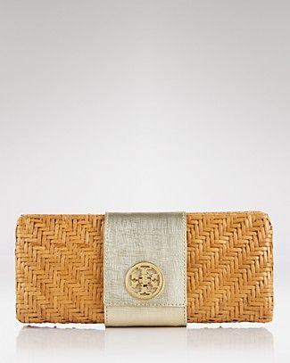 Rattan Turnlock-Great summer clutch.  The gold and silver detail allows it to go with almost every outfit.  Can only hold an iphone, lipgloss and maaaybe your keys.