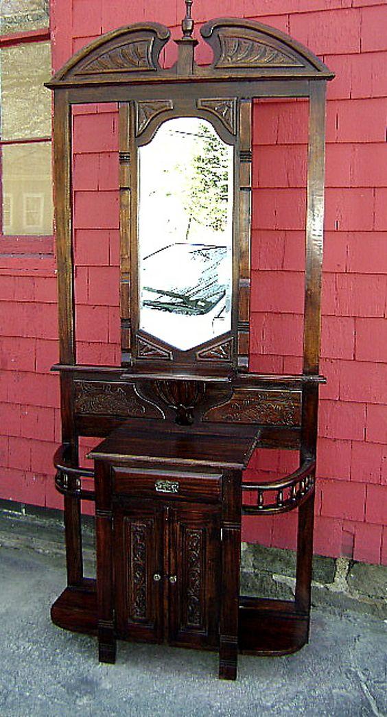 Antique Hall Tree Furniture Prices Antique Furniture Antique Hall Trees Stands For
